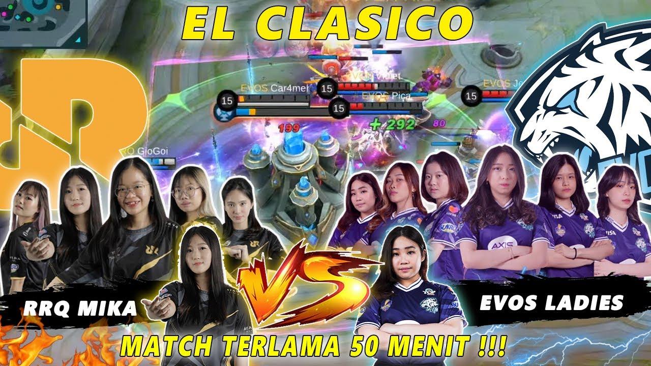 MATCH 50 MENIT !!! EL CLASICO WSL EVOS LADIES VS RRQ MIKA !!! PENENTUAN PERINGKAT 2 !!!! GILA COK