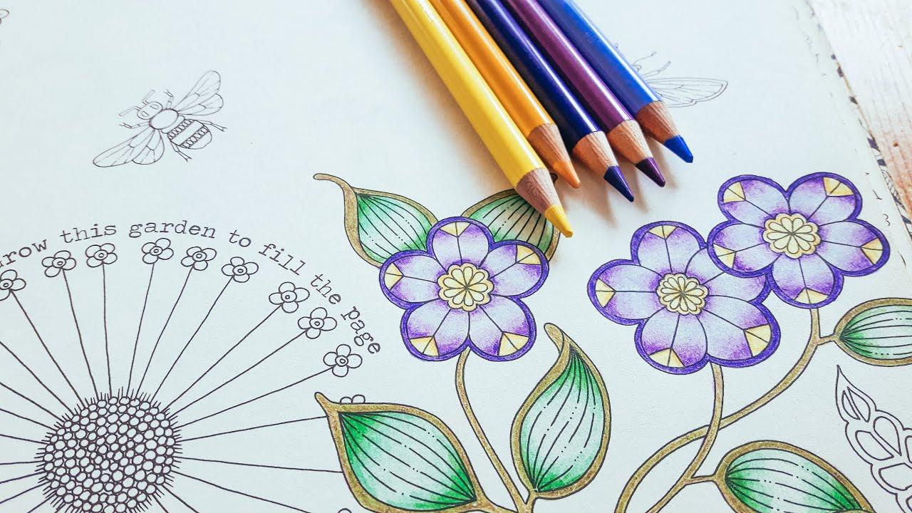 Coloring Tutorial Secret Garden Pt 1