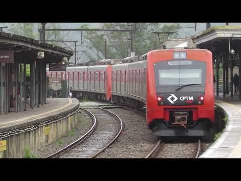 Linha 10 - Série 7500 na Estação Rio Grande da Serra
