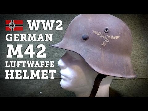 Helmets of the World: WW2 German M42 Single Decal Luftwaffe Steel Helmet