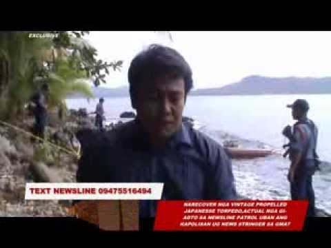 NLP DINAGAT:NEWSLINE ANCHOR AT VINTAGE TORPEDO SITE IN LIBJO,DINAGAT PROVINCE