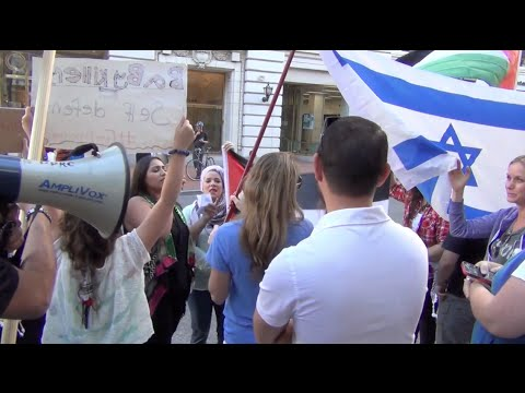 Palestine Supporters Harass, Berate Israel Supporters