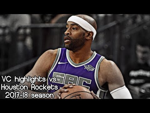 Vince Carter 6 pts, 2 ast & 1 reb vs. Rockets (NBA RS 2017/2018) - Official Kings Debut!