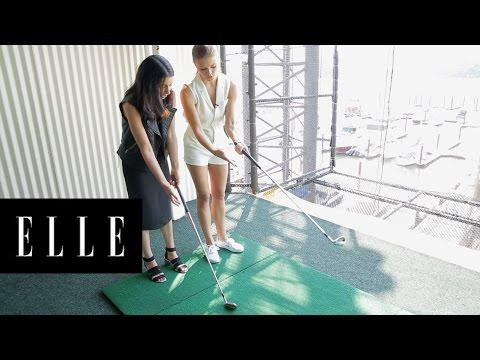 Nina Agdal Is My Golf Coach | ELLE