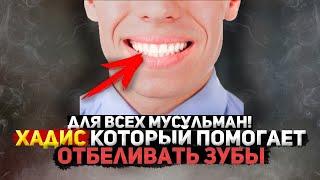 Срочно Легкая Сунна Пророка Которая Поможет Отбелить Зубы Поможет бросить курить Хадис