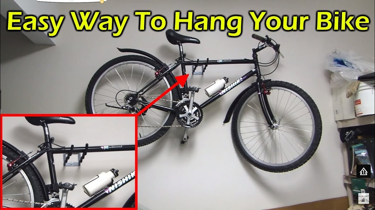 Bike Rack For The Garage Easy Way To Hang Your Bike In A Garage Without A Rack Or Pulley System