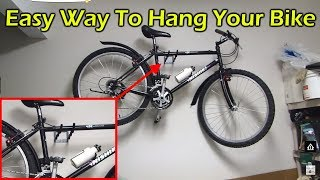 Easy Way To Hang Your Bike In A Garage Without A Rack Or Pulley System