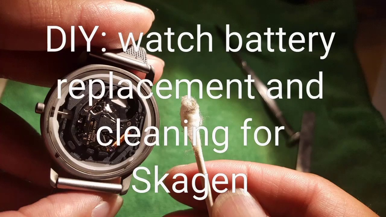 Watch Battery Replacement And Cleaning Skagen Youtube