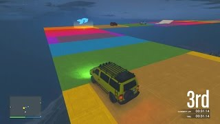 RAINBOW ROAD! - GTA 5 Funny Moments #626