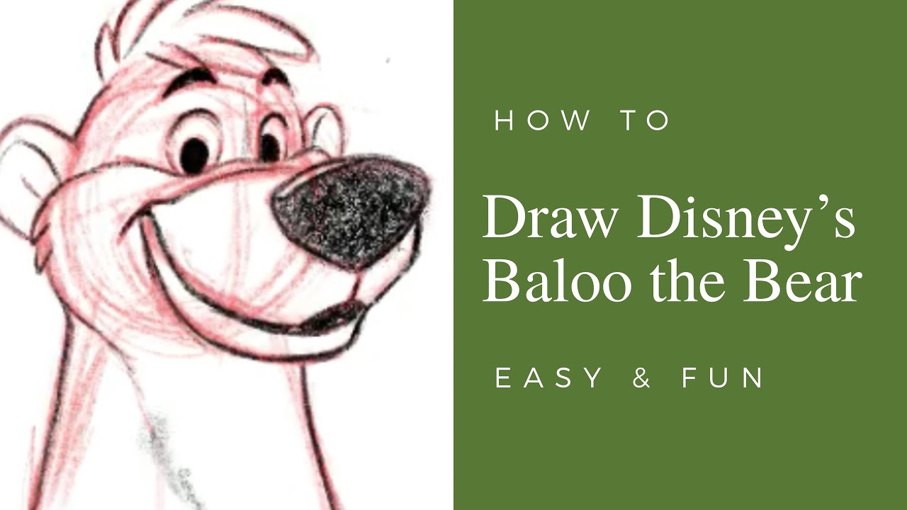 8e7b528bb4af16 How to Draw Disney s Baloo the Bear Step by Step Easy - YouTube