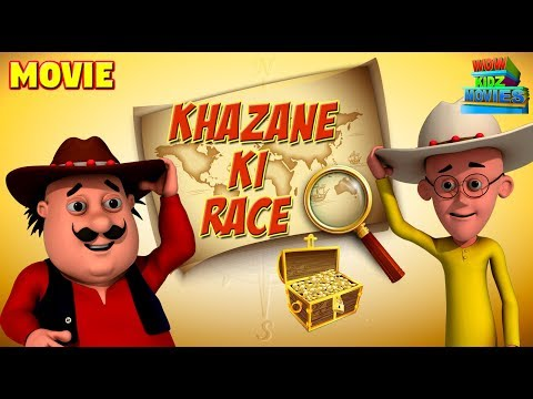 Animated Movies for kids  Motu Patlu - Khazane Ki Race  Funny cartoons  WowKidz Movies