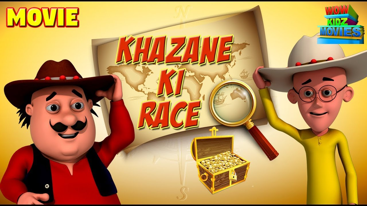 Animated Movies for kids | Motu Patlu - Khazane Ki Race ...