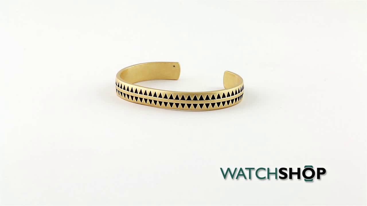 Icon Brand Jewellery Men\'s Gold Plated Hound Tooth Bangle (P1207 ...