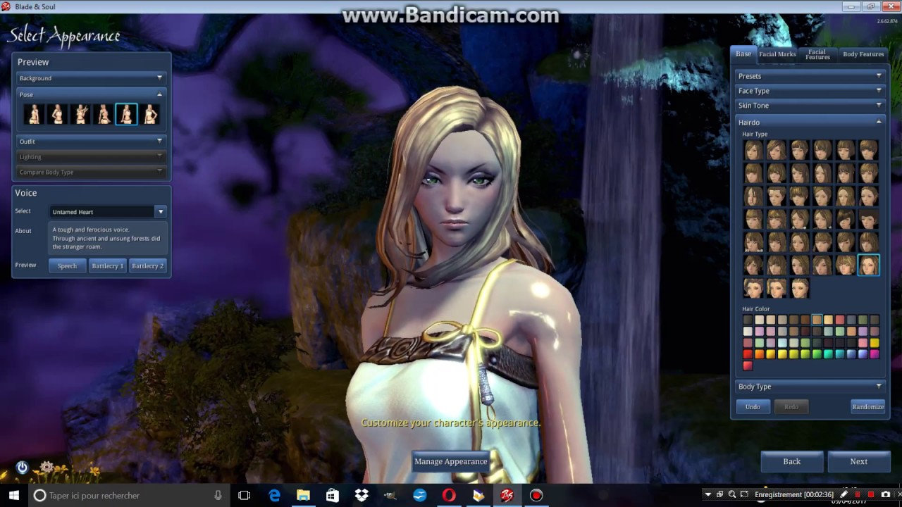 blade and soul character creation youtube