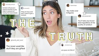 the TRUTH about influencers (HOW MUCH $$ WE MAKE, fake friends, etc)