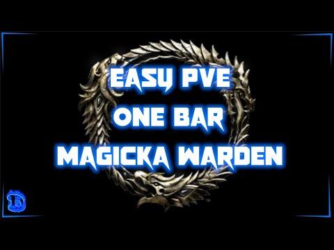 ESO – Easy PvE 1 Bar Magicka Warden (MagDen) - Harrowstorm 2020