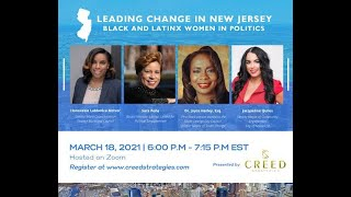 Leading Change in New Jersey Black and Latinx Women in Politics