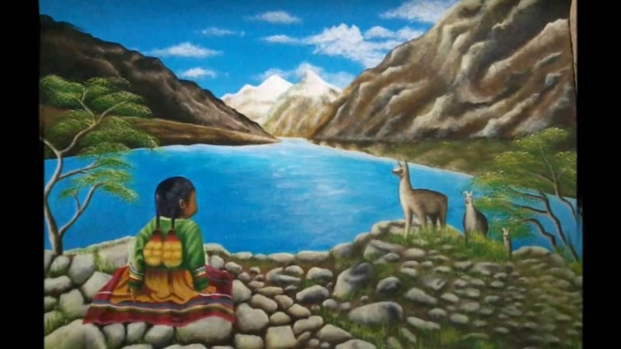 Pintado de un paisaje andino v deo foto youtube - Pintar con acrilicos paso a paso ...