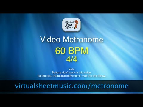 Video Metronome - 60 BPM (Beats Per Minute) 4/4 - Metronome Click Track