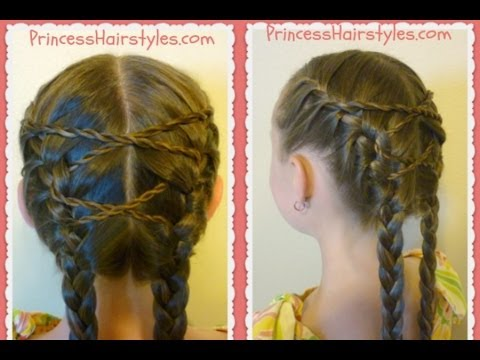 criss cross french braids hairstyle