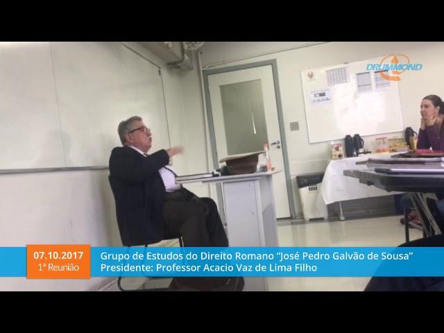 Reunião 07/10/2017 - Grupo de Estudos de Direito Romano e de História do Direito JPGS