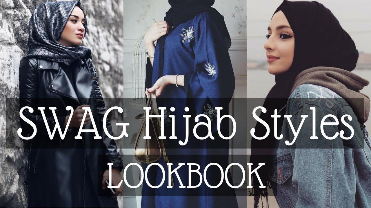 Trendy Swag Hijab Style 2018 / Winter Fashion Lookbook 6