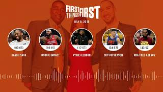 First Things First audio podcast(7.9.18) Cris Carter, Nick Wright, Jenna Wolfe | FIRST THINGS FIRST