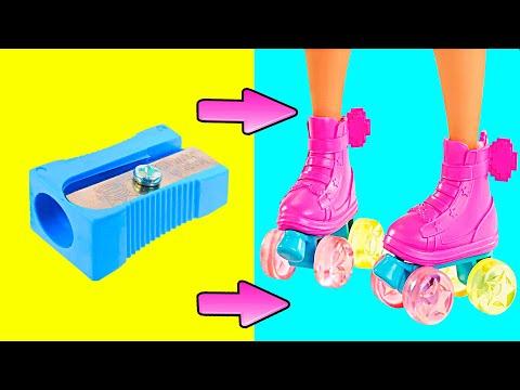DIY Barbie Miniatures   Doll Shoes, Backpack, DIY Barbie Dresses   Creative Fun For Kids