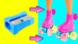 DIY Barbie Miniatures | Doll Shoes, Backpack, DIY Barbie Dresses | Creative Fun For Kids