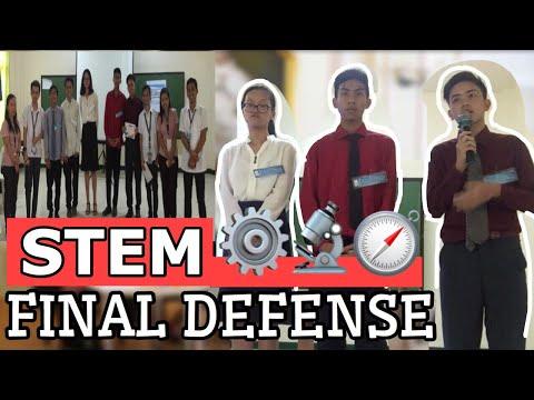 Sample Final Research Defense   STEM Senior High School