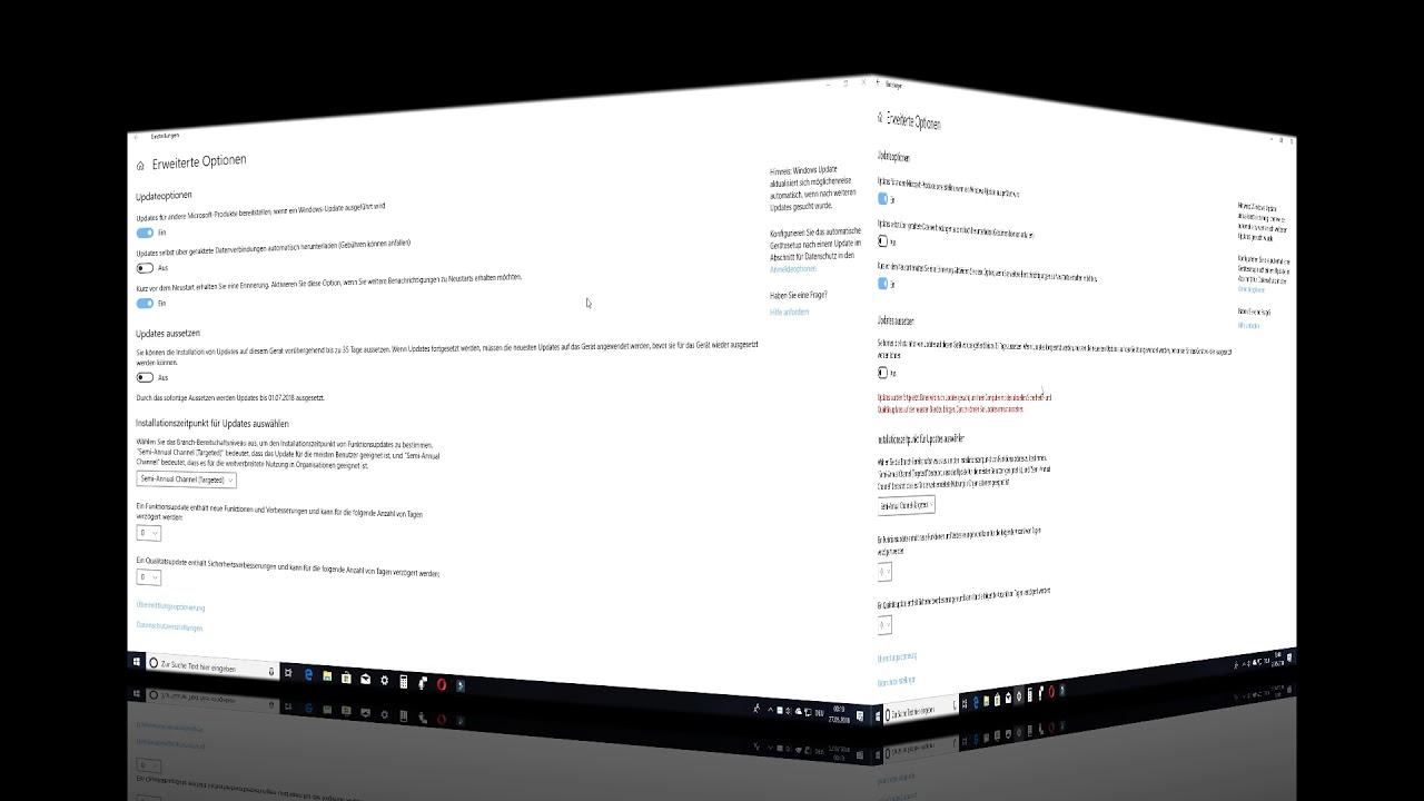 Tutorial: Windows 10 Version 1803 Update Einstellungen - YouTube