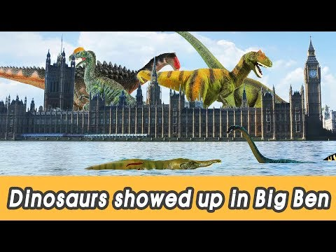 [EN] #85 Dinosaurs showed up in Big Ben, kids education, Dinosaur movie, CollectaㅣCoCosToy