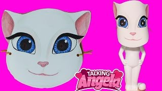 How to Make Talking Angela Mask | How to Draw and Color Kids TV