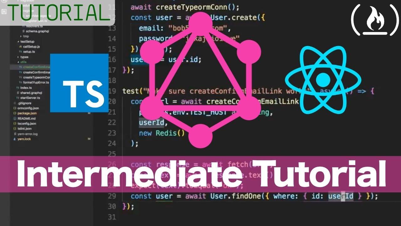 GraphQL Server Intermediate Tutorial - Boilerplate with Typescript,  PostgreSQL, and Redis