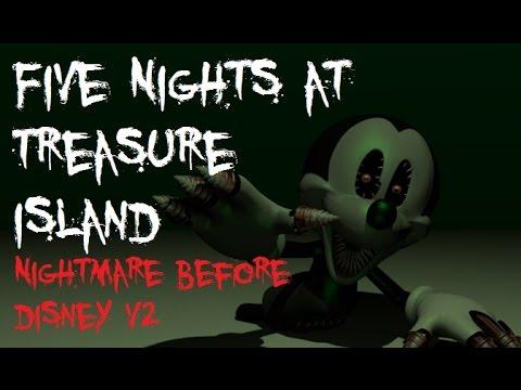 Five Nights At Treasure Island Nightmare Before Disney Walkthrough