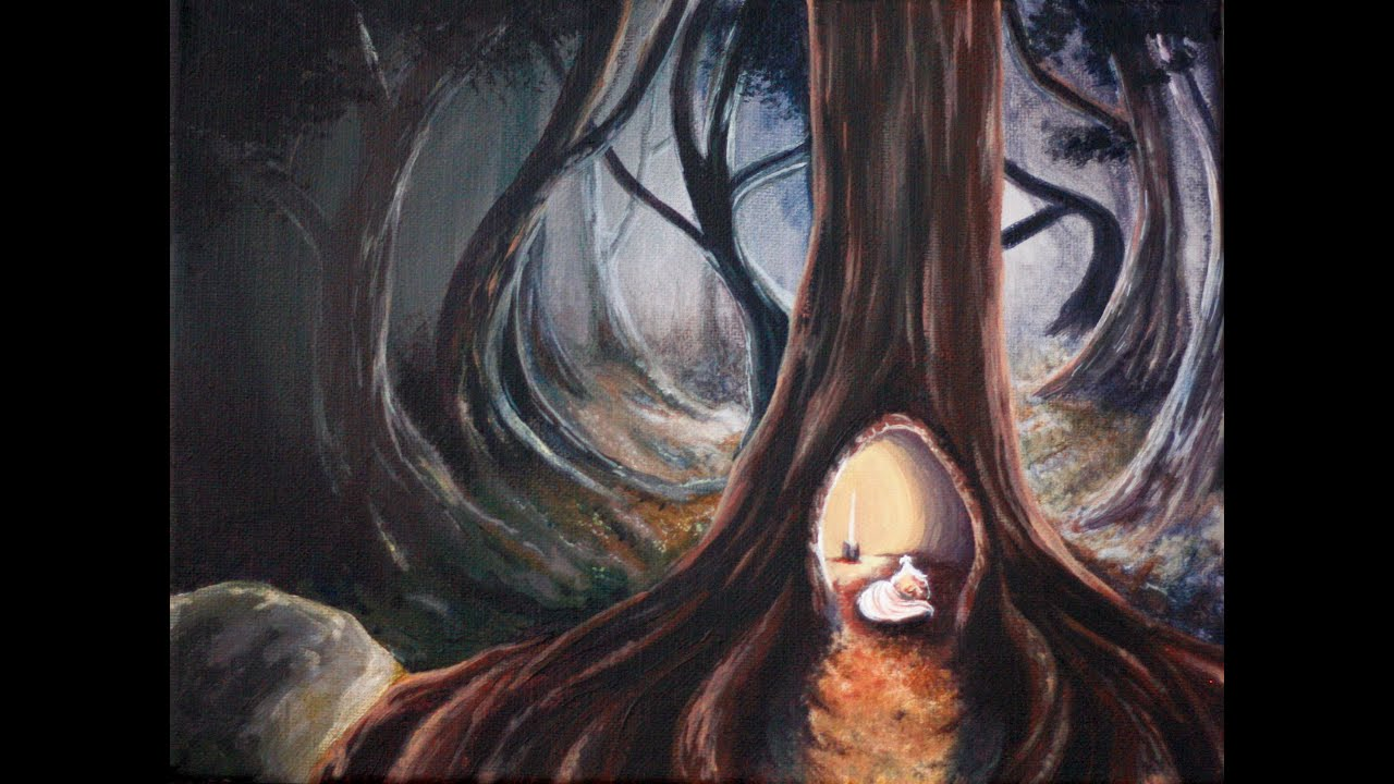 Into The Woods Creatures Of Peace Painting 1