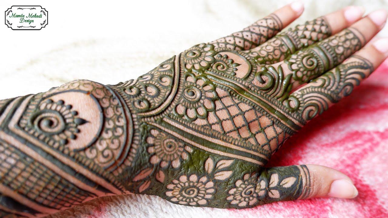 bharwa mehndi design back hand