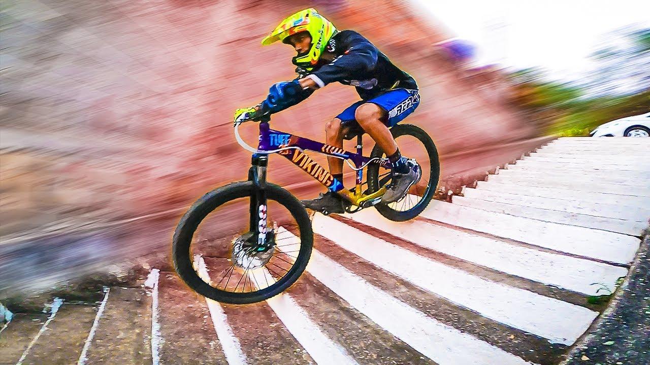 Melhorei MUITO a Vikingx !! Downhill Urbano e Pump Track