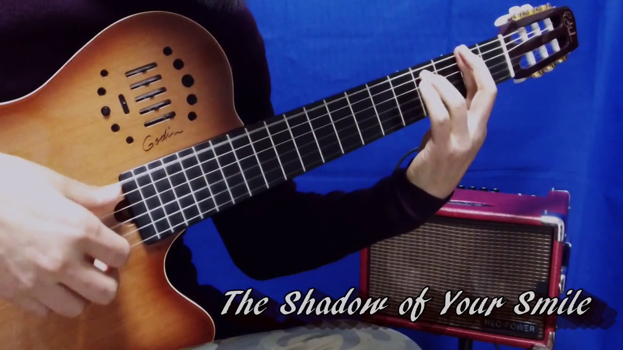 the shadow of your smile solo guitar ã ã ã ã with loop