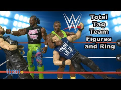 WWE Total Tag Team Figures and Ring from Mattel