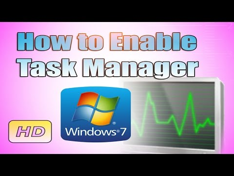 How To Enable Task Manager In Windows 7 Urdu/Hindi Tutorial