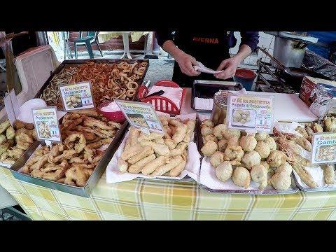 Palermo, Sicily, Italy. Street Food and Fresh Food. ' Il Capo' Market