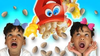 family fun game for kids don t spill the beans egg surprise toys naiah elli