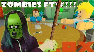I ATE CHAD AND RYAN IN ROBLOX ZOMBIE RUSH!!!
