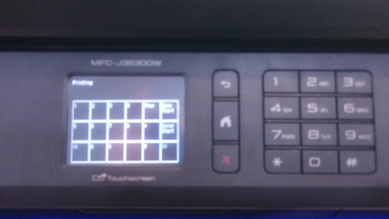 Enter maintenance mode & cleanig print head MFC-J3530DW
