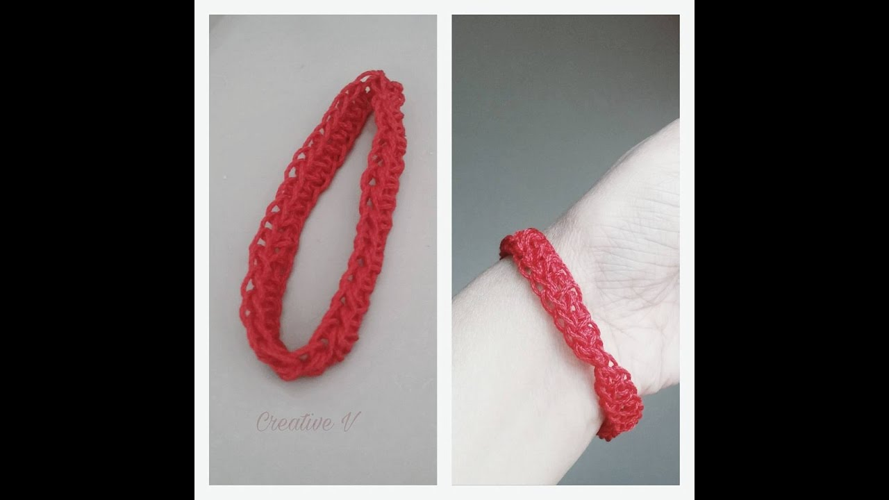 How Make Crochet Bracelet Tutorial 84 Youtube