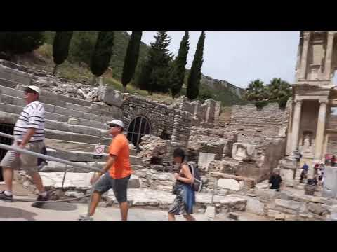 Tour to Kusadasi part 3 Celsus library and Marble Street