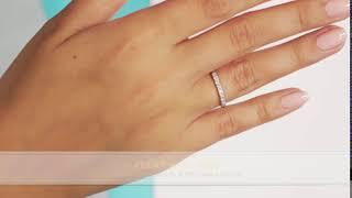 Обручальное кольцо из платины с 9 бриллиантами