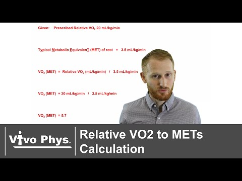 Relative VO2 to METs Calculation