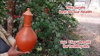 इस सुराही का पानी सभी बीमारियों को रखता हैं दूर   Indian surahi for chilled water